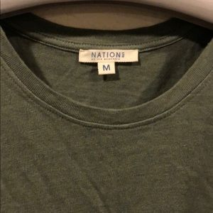 Nation LTD Tops - NWOT Nation Ltd green sleeveless cutoff tank top